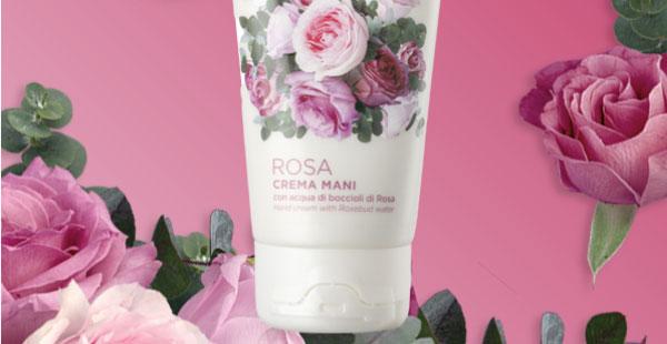 GRATIS crema mani alla Rosa
