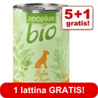 5 + 1 gratis! 6 x 400 / 800 g zooplus Bio