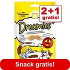 2 + 1 gratis! 3 x 60 g Catisfactions snack per gatti