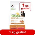 11 + 1 kg gratis! 12 kg Natural Trainer Sensitive Medium/Maxi