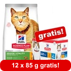 7 kg Secco Hill's Science Plan + 12 x 85 g umido in busta gratis!