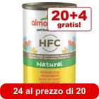 20 + 4 gratis! 24 x 140 g Almo Nature HFC