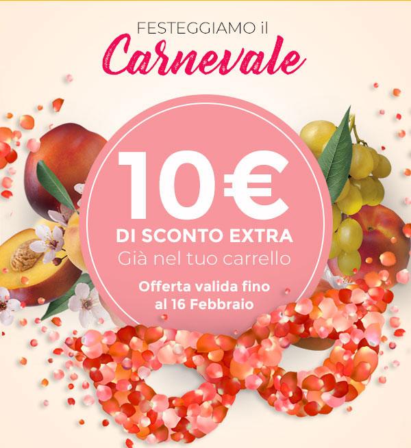 10€ di sconto extra già nel tuo carrello!