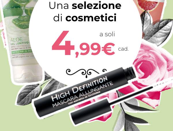 Selezione di cosmetici a soli 4,99€