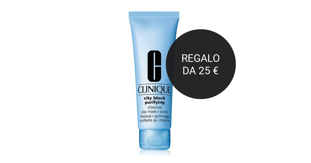 Maschera detergente Clinique in omaggio con l'acquisto di 2 o più prodotti di marche selezionate