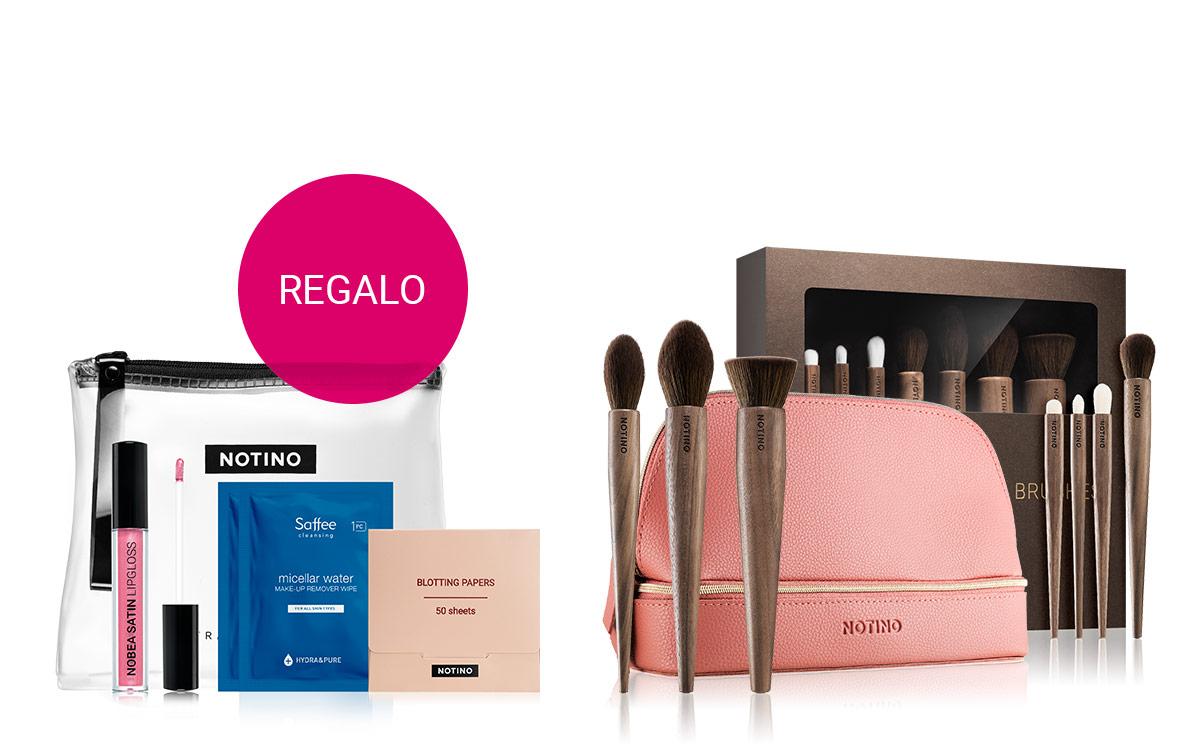 Trousse contenente necessità cosmetiche con l'acquisto di prodotti Notino oltre i 15 €.