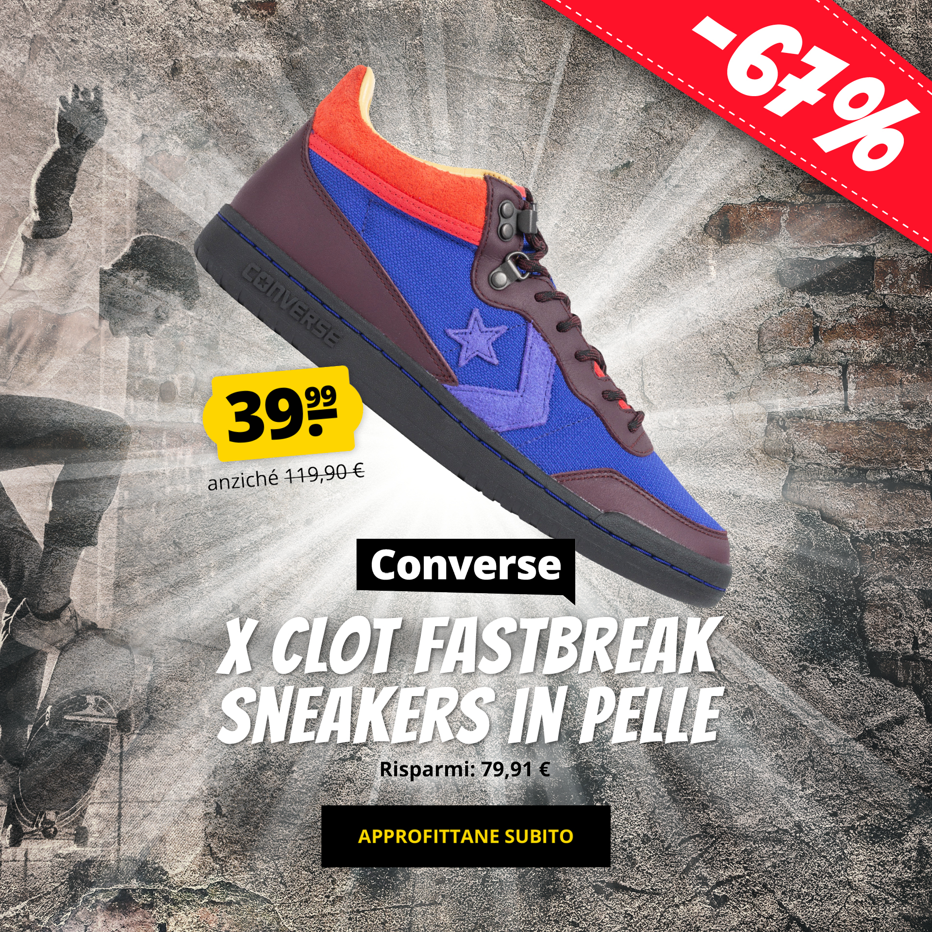 Converse x CLOT Fastbreak Sneakers in pelle solo 39,99 €
