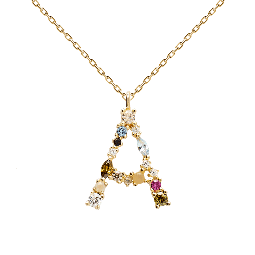 Letters Gold Necklaces