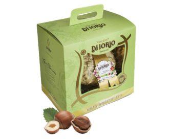 Uovo di Pasqua Artigianale gran nocciolato di cioccolato bianco Di Iorio 600gr