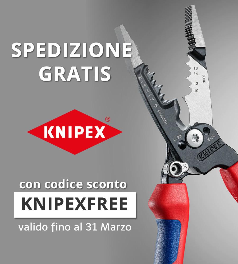 KNIPEXFREE per ottenere la spedizione gratis