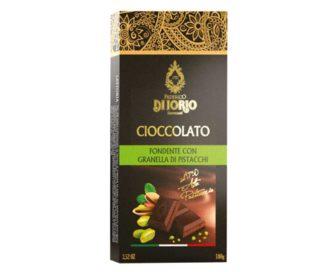 Cioccolato fondente con granella di pistacchio Di Iorio 100gr