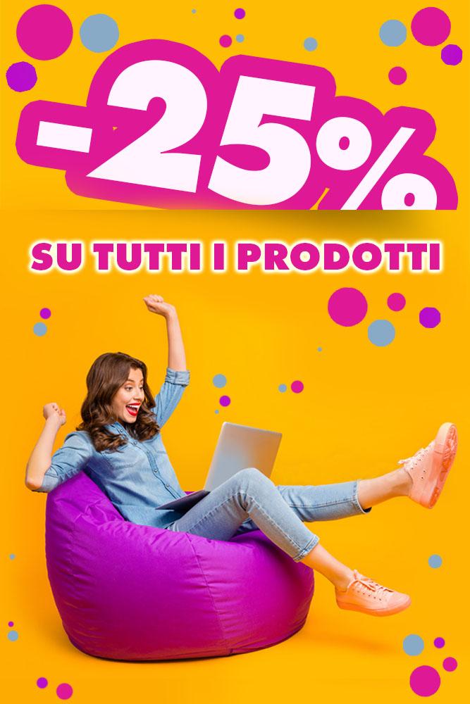 -25% su tutti i prodotti