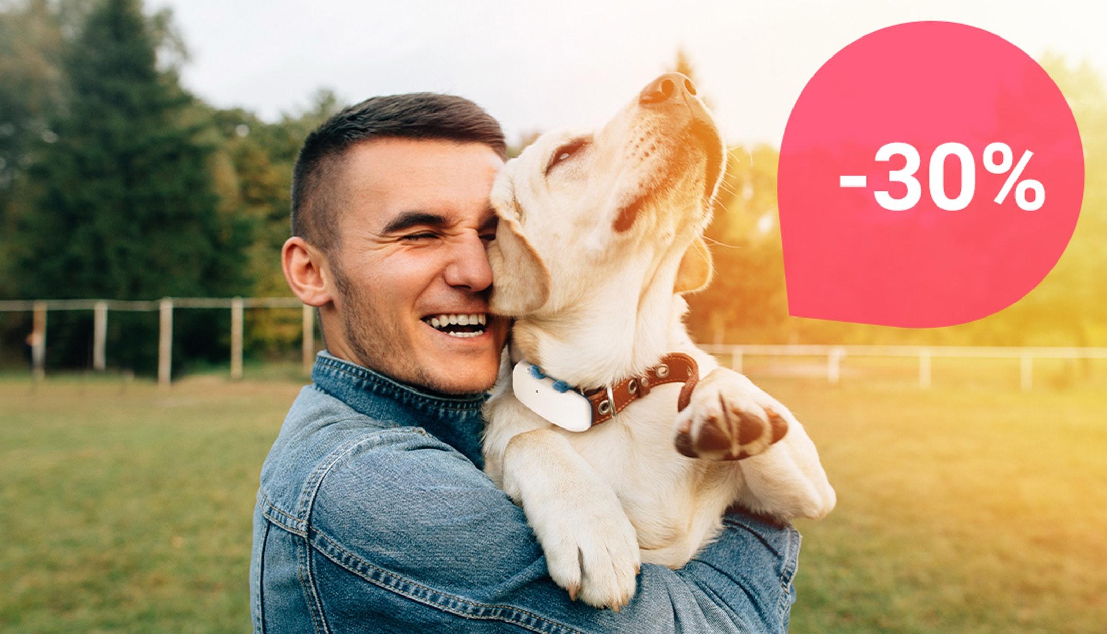 Qualsiasi cosa tu decida di fare questa Pasqua, sappi che il tuo cane è al sicuro con il 30% di sconto su Tractive GPS.