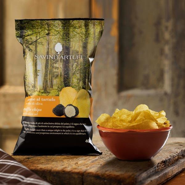 Patatine al tartufo con olio di oliva