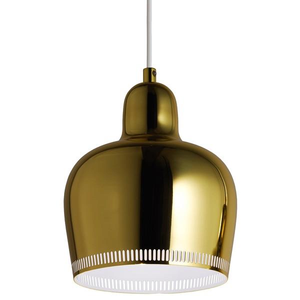 """Lampada a sospensione Aalto A330S """"Golden Bell"""", ottone"""