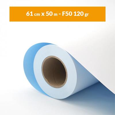 Immagine Rotolo carta plotter blue back A1 bianco (61 cm x 50 m – F50 120 gr)