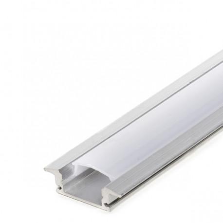 Profilo Alluminio Per Striscia Led - DiffusoreLatteo  RL-A1708 x 2M -