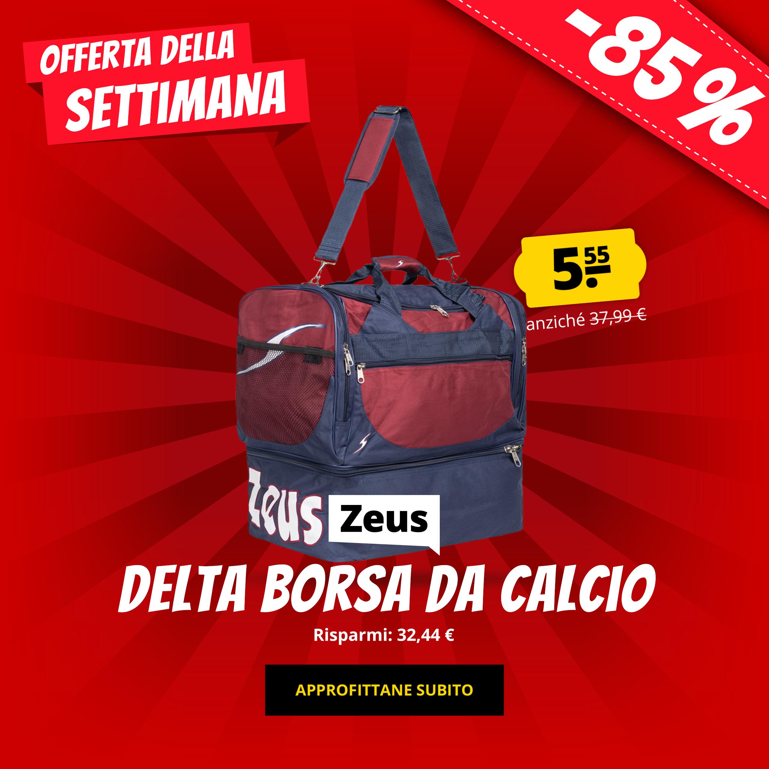 Zeus Delta Borsa da calcio solo 5,55 €