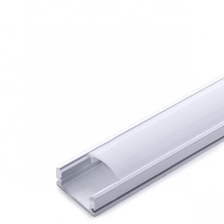 Profilo Alluminio Per Striscia Led - DiffusoreLatteo 2M A1707 x 2M -