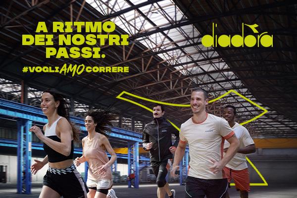 Diadora #vogliAMOcorrere campaign