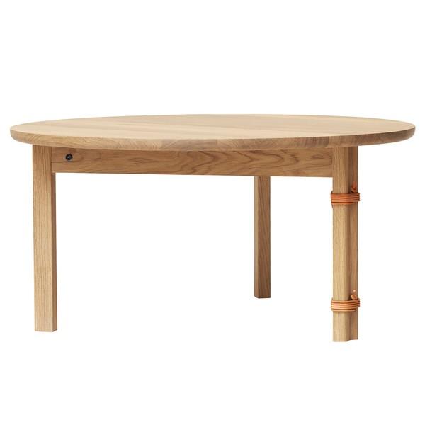 Tavolino Strap, rovere oliato bianco