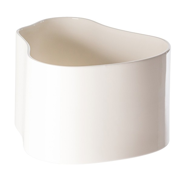 Vaso Riihitie Modello A, grande, bianco lucido