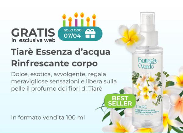 Essenza d'acqua Tiarè in formato vendita GRATIS