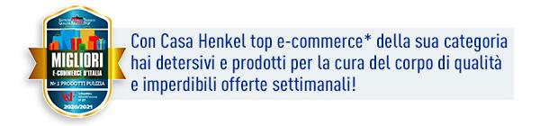 Casa Henkel miglior sito e-commerce 2020/2021. Fonte ITQF