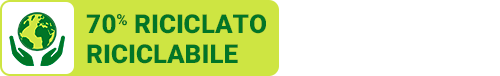 70% RICICLATO RICICLABILE