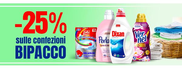 -25% sulle confezioni BIPACCO.