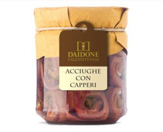 Acciughe con capperi Daidone Equisiteness 200gr