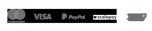 Paga in contrassegno, a rate, PayPal e  con carta di credito.