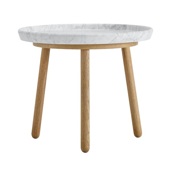 Tavolo Tureen, 52 cm, rovere - marmo bianco