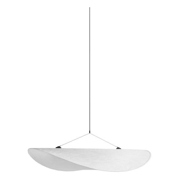 Lampada a sospensione Tense, 90 cm, bianca
