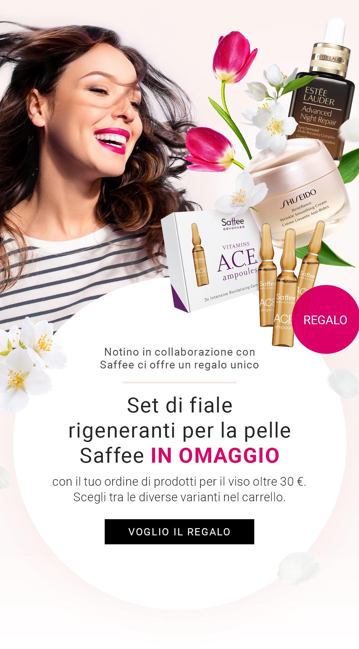Set di fiale rigeneranti per la pelle Saffee in omaggio con il tuo ordine di prodotti per il viso oltre 30 €