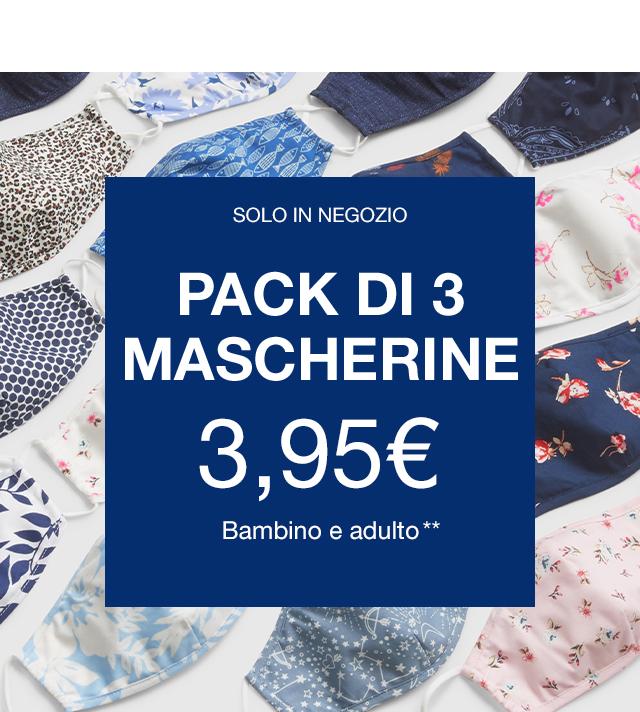 Pack di 3 mascherine 3,95€