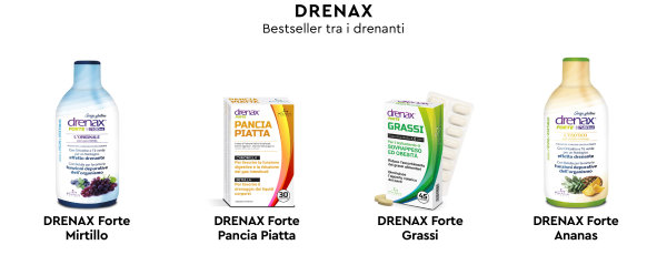 Drenax, integratori alimentari drenanti depurativi online