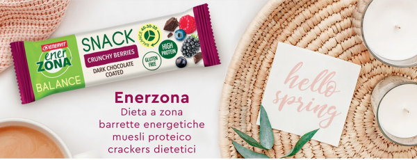 Enerzona, dieta a zona, barrette energetiche, biscotti dietetici, crackers dietetici