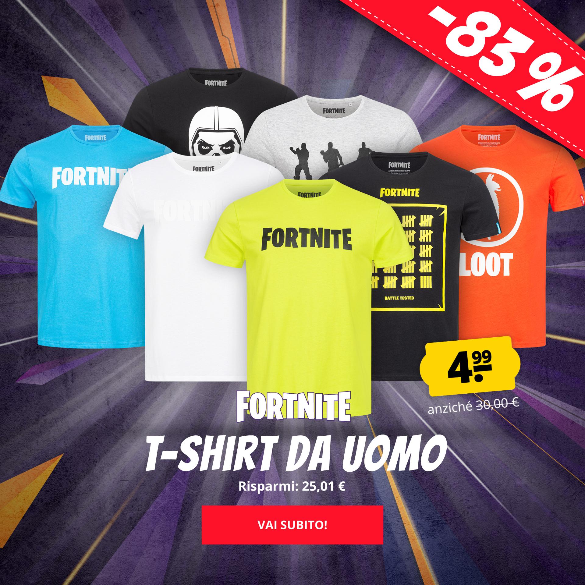 FORTNITE T-shirt da uomo solo 4,99 €