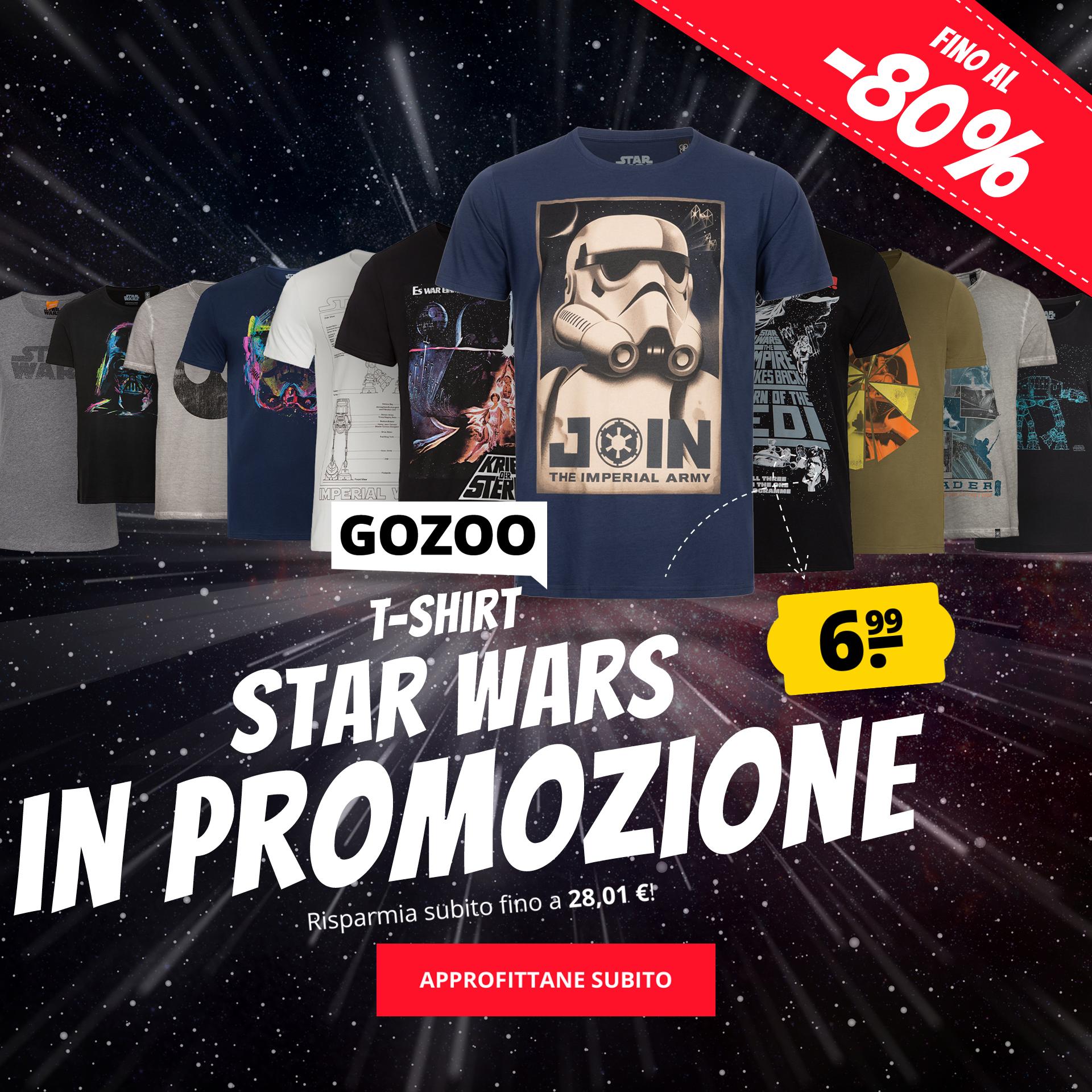 GOZOO T-shirt Star Wars in promozione solo 6,99 €