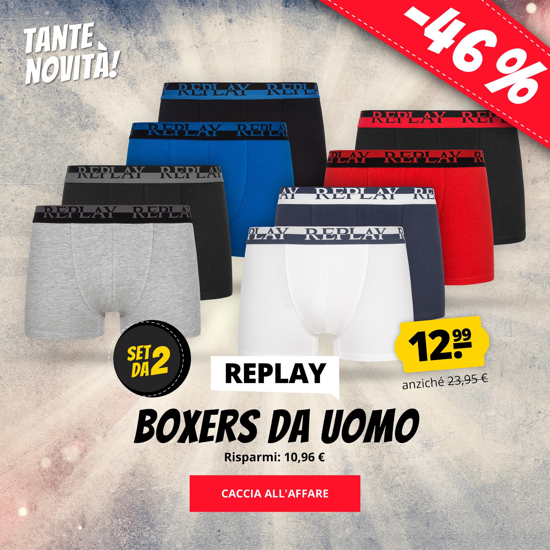 REPLAY Boxers da uomo Set da 2  12,99 €