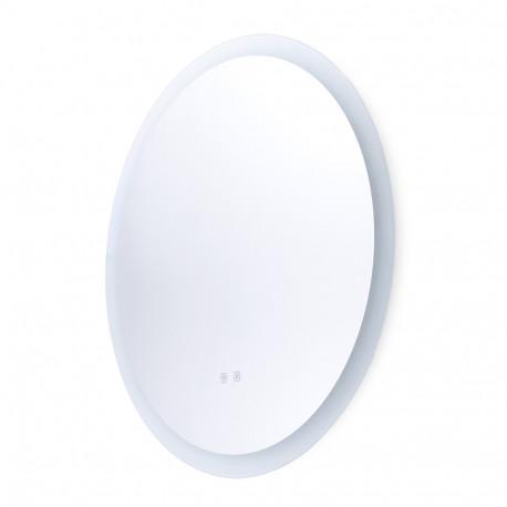 Specchio da bagno illuminato a LED Ø80 cm con interruttore tattile antiappannamento dimmerabile -