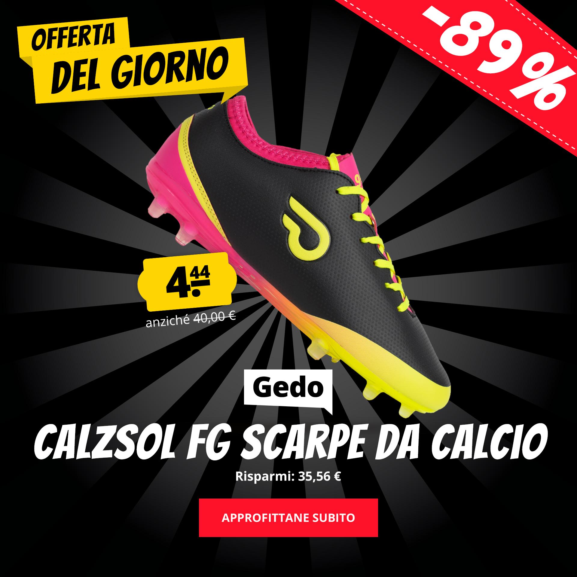 Gedo Calzsol FG Scarpe da calcio solo 4,44 €