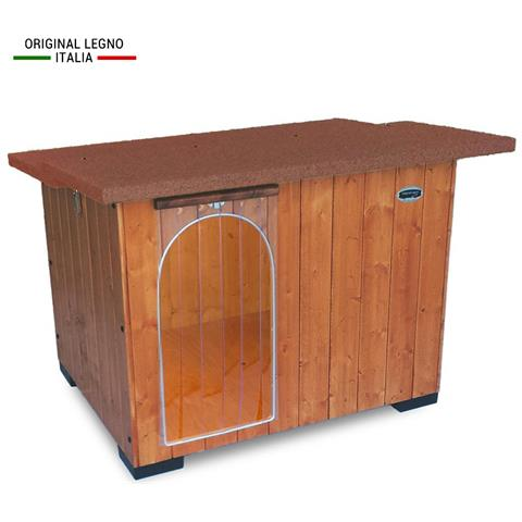 ORIGINAL LEGNO ITALIA Cuccia per Cani da Esterno Rinforzata in Legno Mod. Italy Taglia D
