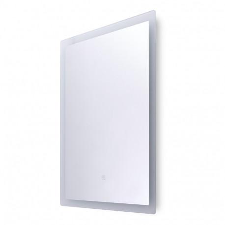 Specchio da bagno illuminato con interruttore tattile dimmerabile a LED 50x70 cm -