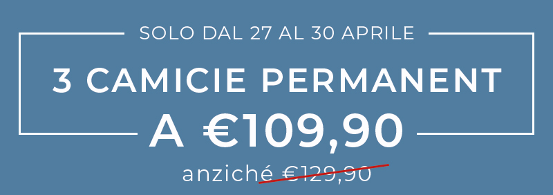 3 Camicie Permanent a 109,90€