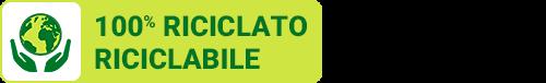100% RICICLATO RICICLABILE