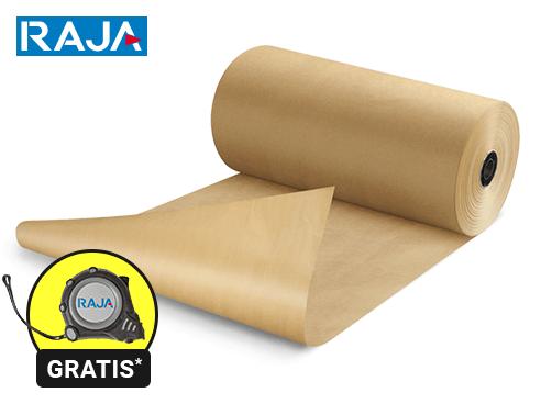 Carta kraft naturale in rotolo qualità standard RAJA