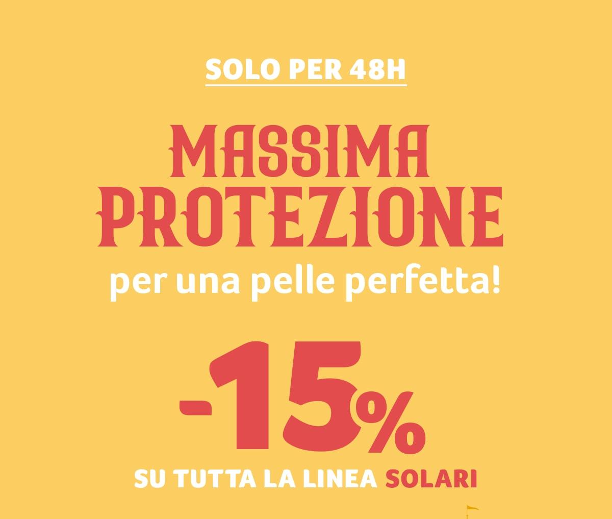 -15% su TUTTA la linea solari