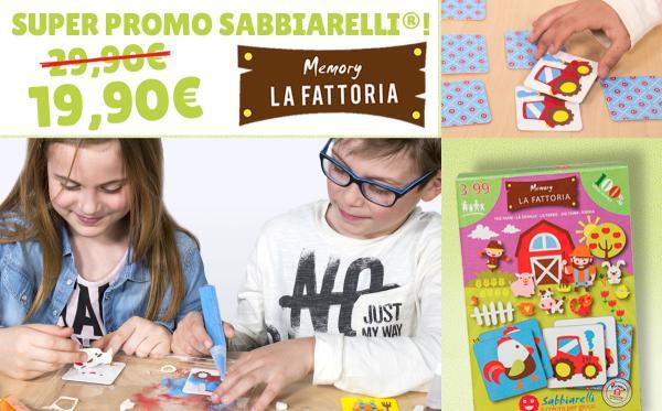 Promo Sabbiarelli Smart Kit Memory La fattoria